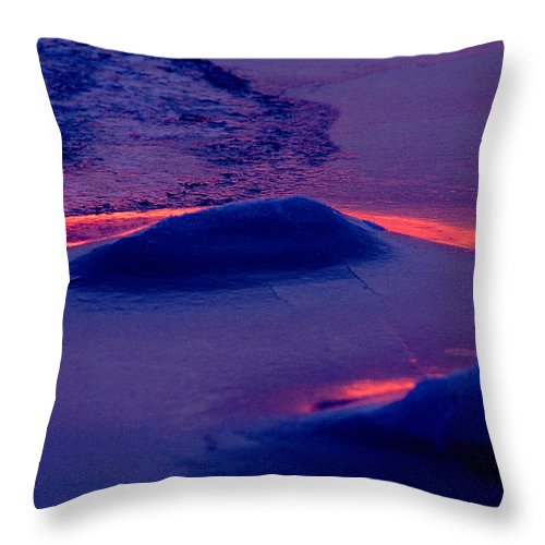 Sunset Throw Pillow featuring the photograph Red Alert by Michael Mogensen