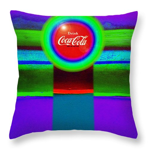 Red Throw Pillow featuring the painting Red Brand by Charles Stuart