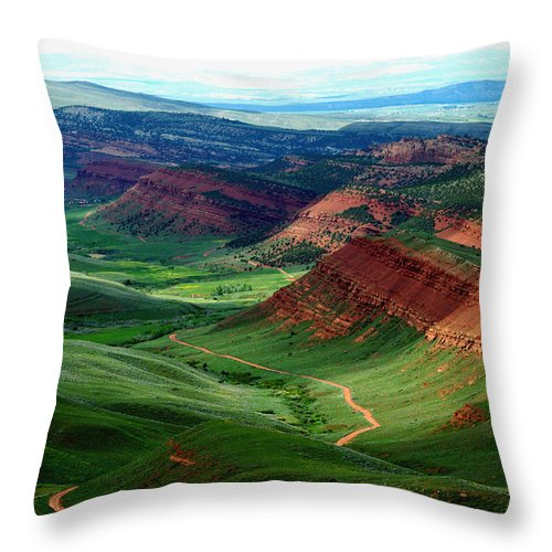 Jenny Gandert Throw Pillow featuring the photograph Red Canyon by Jenny Gandert