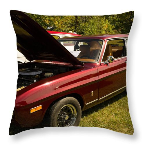 Throw Pillow featuring the photograph Red Car by Timoke Brown