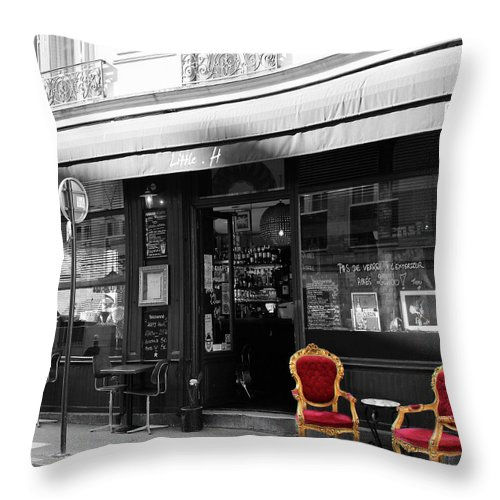 Paris Throw Pillow featuring the photograph Red Chairs by Andrew Fare