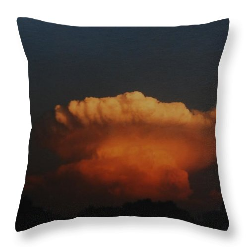 Clouds Throw Pillow featuring the photograph Red Cloud by Rob Hans