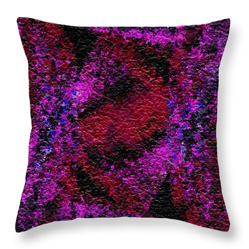Abstract Throw Pillow featuring the digital art Red Dawn by Charmaine Zoe