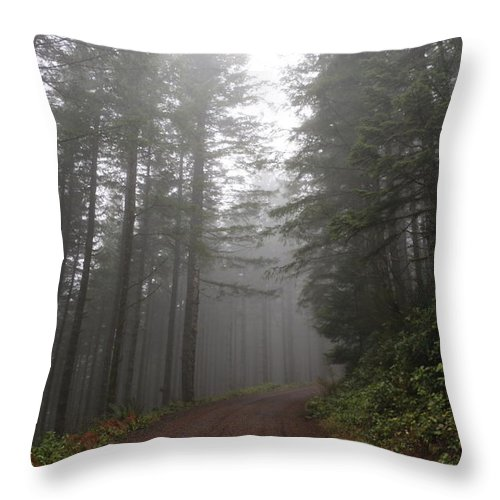 Trees Throw Pillow featuring the photograph Red Dirt Road by Dani Keating