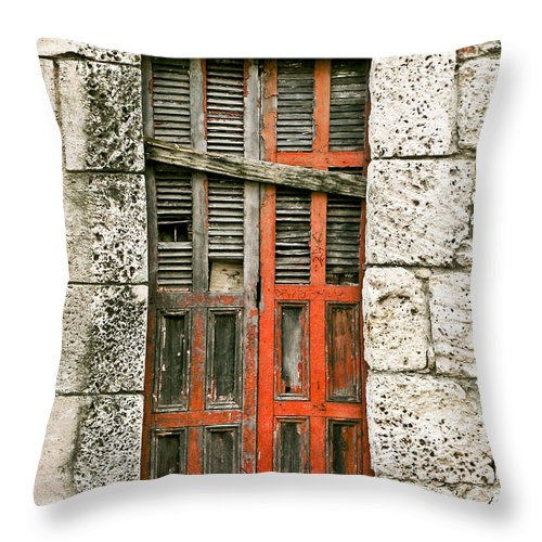Door Throw Pillow featuring the photograph Red Door by Douglas Barnett