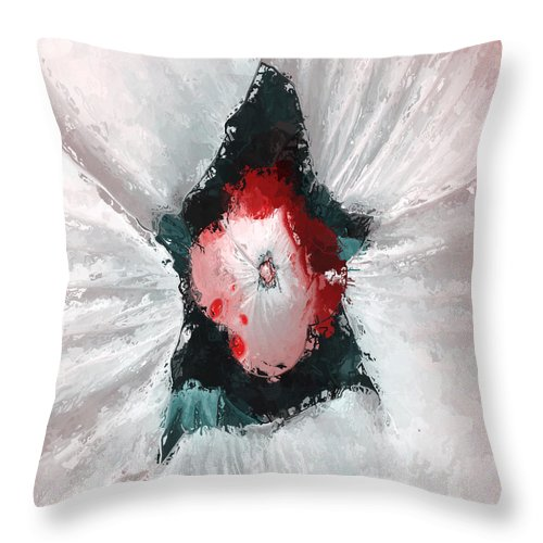 Fractal Throw Pillow featuring the photograph Red Eye by Charles Caudillo