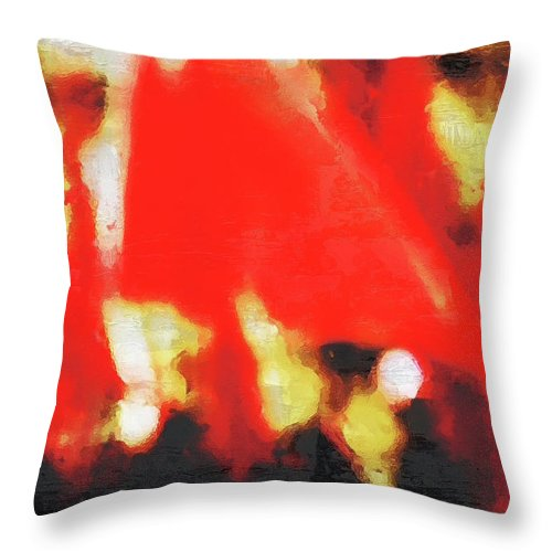 Red Throw Pillow featuring the photograph Red Flags II by Pekka Liukkonen