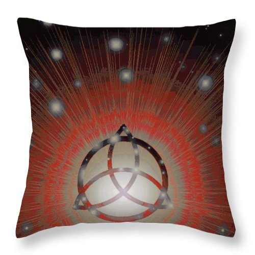 All Throw Pillow featuring the digital art Red Giant by Jerry Lawhead