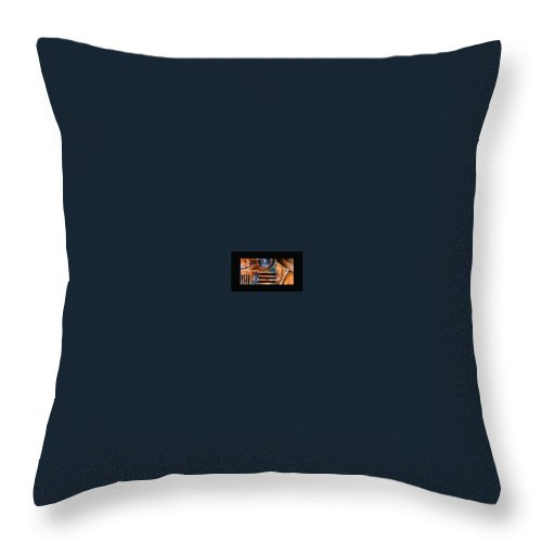 Abstract Photo Of Chevy Truck Throw Pillow featuring the photograph Red Head On by Steve Karol