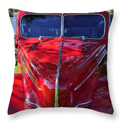 Clay Throw Pillow featuring the photograph Red Hot Rod by Clayton Bruster