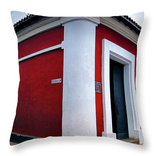 House Throw Pillow featuring the photograph Red House by Galeria Trompiz