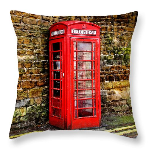 Phone Throw Pillow featuring the photograph Red Icon by Jim Pruett