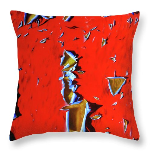 Red Paint Throw Pillow featuring the painting RED by Jurek Zamoyski