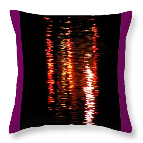 Red Throw Pillow featuring the photograph Red Light by David Dunham