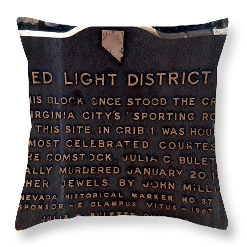Usa Throw Pillow featuring the photograph Red Light District by LeeAnn McLaneGoetz McLaneGoetzStudioLLCcom