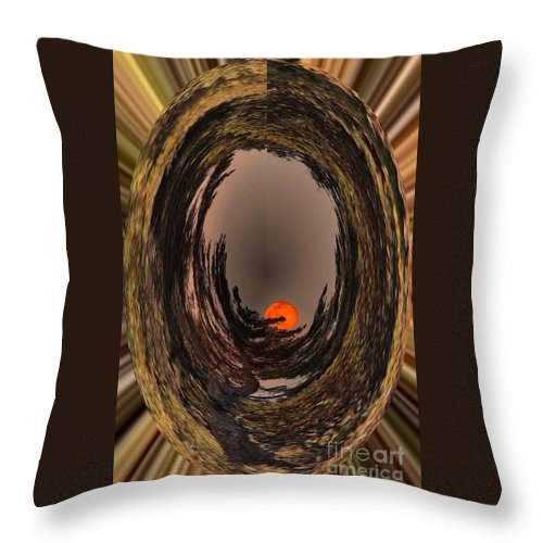 Red Moon Throw Pillow featuring the digital art Red Moon Rising by Barbara Griffin