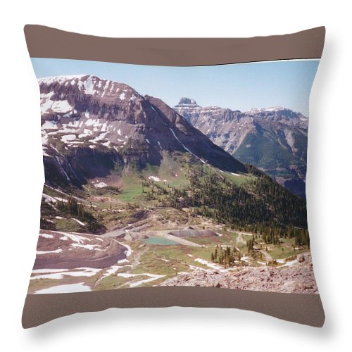 Landscape Throw Pillow featuring the photograph Red Mountain by Dale Jackson