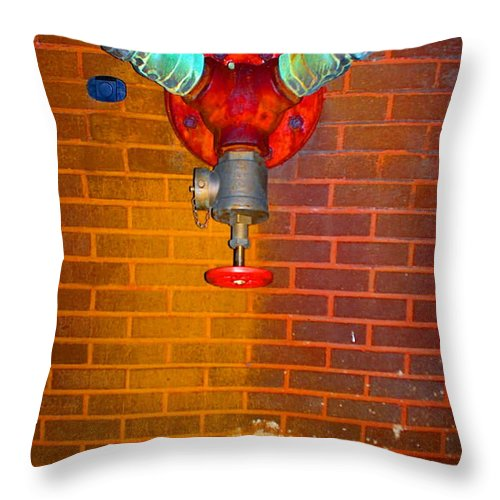 Photograph Throw Pillow featuring the photograph Red Pipe by Thomas Valentine