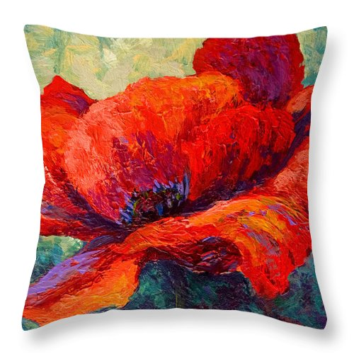 Poppies Throw Pillow featuring the painting Red Poppy IIi by Marion Rose