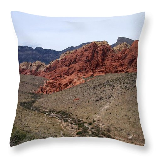 Red Rock Canyon Throw Pillow featuring the photograph Red Rock Canyon 1 by Anita Burgermeister