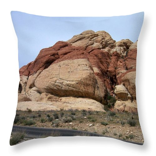 Red Rock Canyon Throw Pillow featuring the photograph Red Rock Canyon 2 by Anita Burgermeister