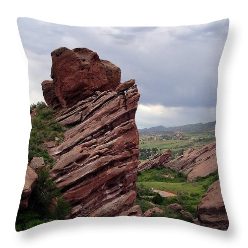 Red Rocks Throw Pillow featuring the photograph Red Rocks Colorado by Merja Waters