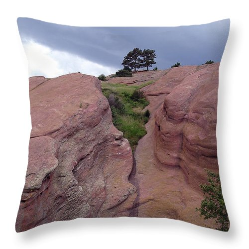 Red Rocks Throw Pillow featuring the photograph Red Rocks by Merja Waters