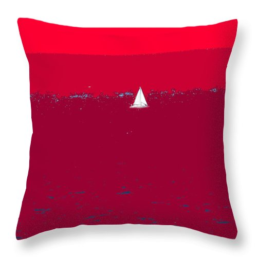 St Kitts Throw Pillow featuring the photograph Red Sea by Ian MacDonald