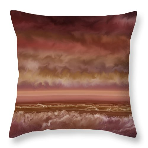 Sunset Throw Pillow featuring the painting Red Sky At Night Sailor Delight by Anne Norskog