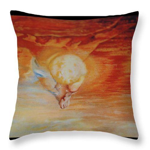 Angels Throw Pillow featuring the photograph Red Sky by Rob Hans
