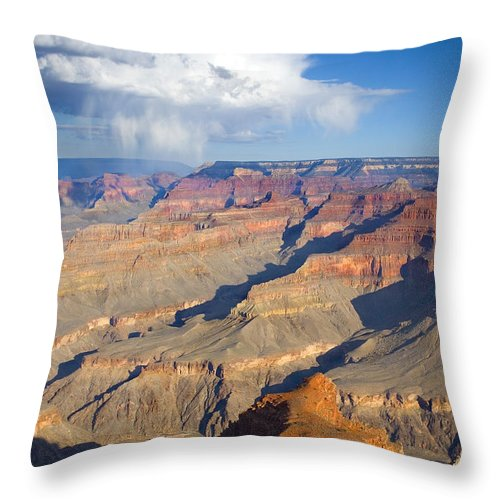 Grand Canyon Throw Pillow featuring the photograph Red Storm Rising by Mike Dawson