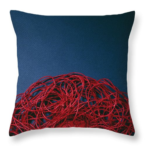 Arty Throw Pillow featuring the photograph Red String by Stefania Levi
