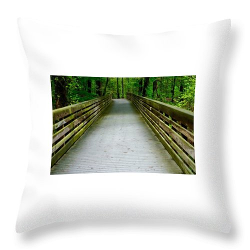 Throw Pillow featuring the photograph Red Top Mountain Bridge by Richard Brooke