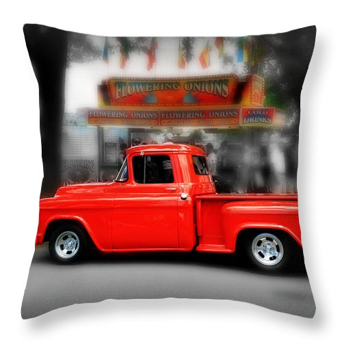 Truck Throw Pillow featuring the photograph Red Truck by Perry Webster