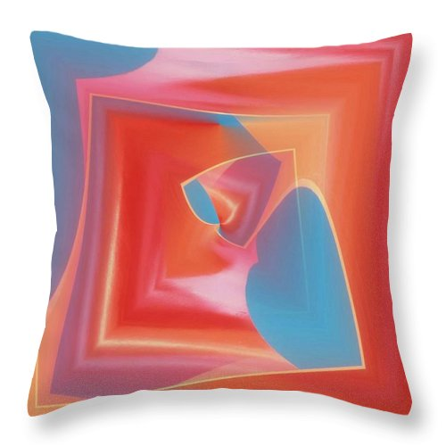 Tubes Throw Pillow featuring the photograph Red Tubes 3 by Tim Allen