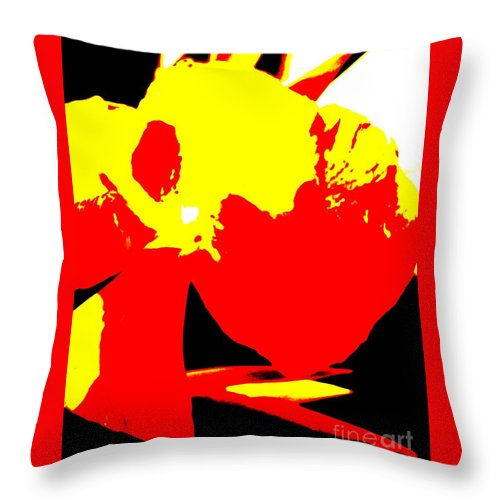Abstract Throw Pillow featuring the photograph Red Yellow Abstract by Eric Schiabor