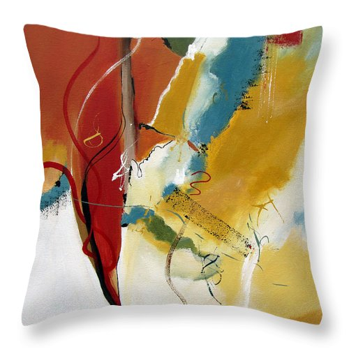 Christian Abstract Throw Pillow featuring the painting Redemption by Ruth Palmer