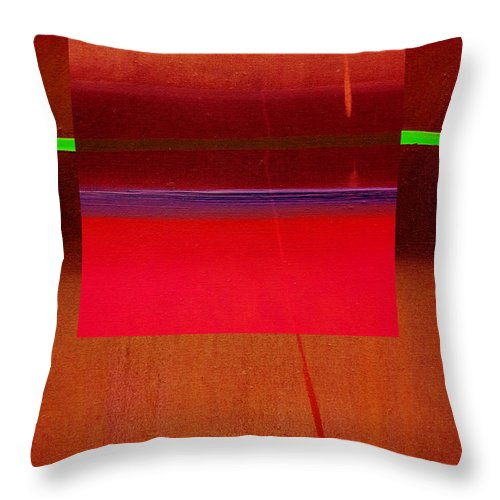 Landscape Throw Pillow featuring the painting Redscape by Charles Stuart