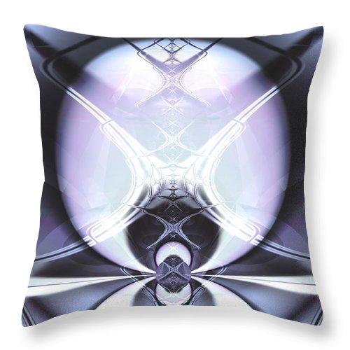 Digital Art Throw Pillow featuring the digital art Reflecting Gateway by Frederic Durville