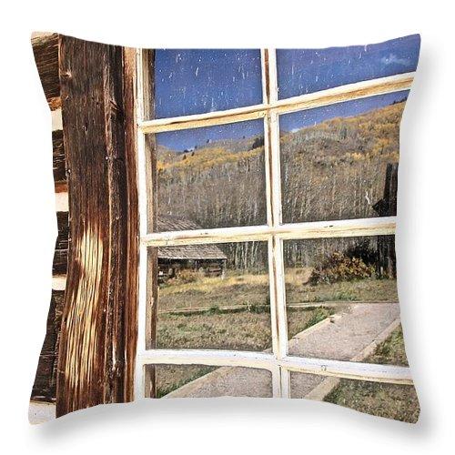 Aspen Throw Pillow featuring the photograph Reflection by Elisabeth Derichs