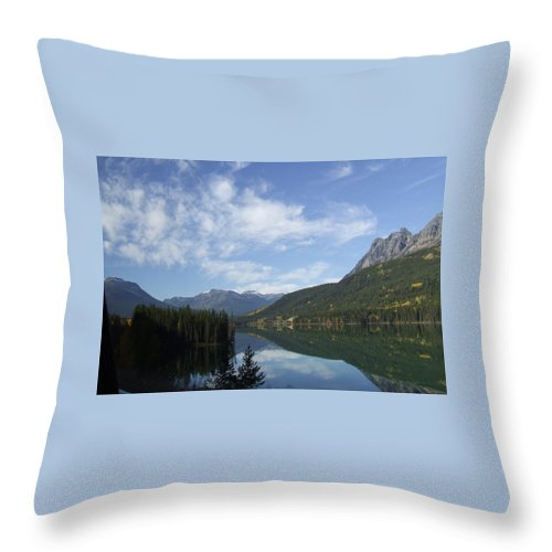 Reflection Throw Pillow featuring the photograph Lake Reflection by Tiffany Vest