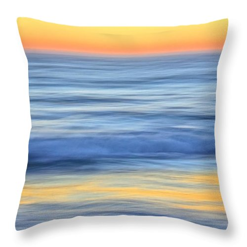 Nature Throw Pillow featuring the photograph Reflection Gold by Zayne Diamond Photographic