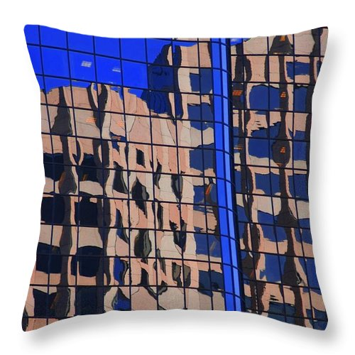 Glass Throw Pillow featuring the photograph Reflection In Glass by Kathleen Struckle
