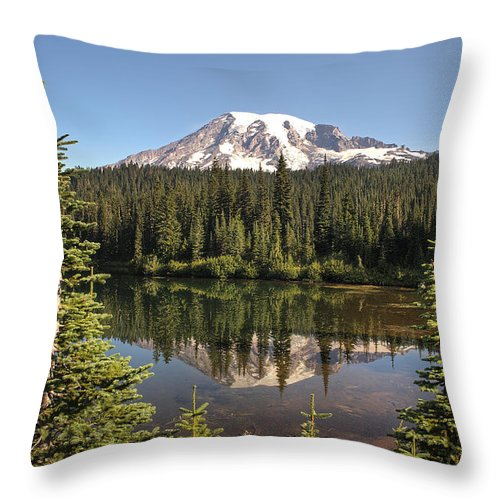 Reflection Lake Throw Pillow featuring the photograph Reflection Lake by Doug Davidson