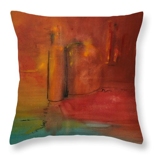 Still Throw Pillow featuring the painting Reflection Of Still Life by Jack Diamond