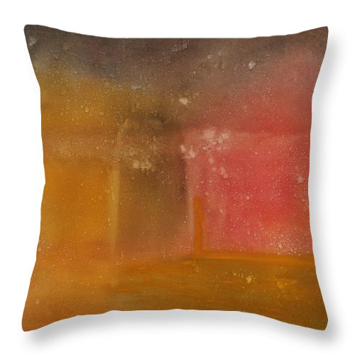 Storm Summer Red Yellow Gold Throw Pillow featuring the painting Reflection Summer Storm by Jack Diamond