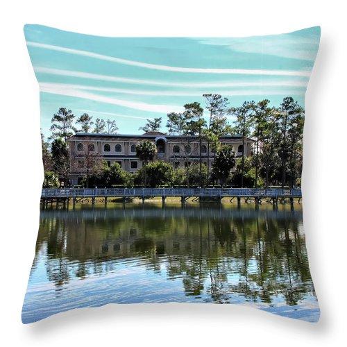 Lake Throw Pillow featuring the photograph Reflections At The Lake by Deborah Benoit