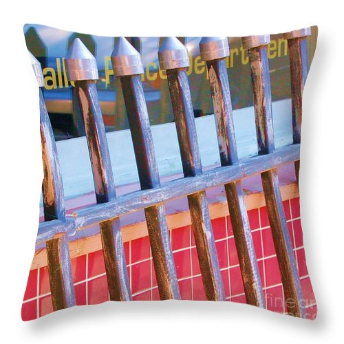 Gate Throw Pillow featuring the photograph Reflections by Debbi Granruth