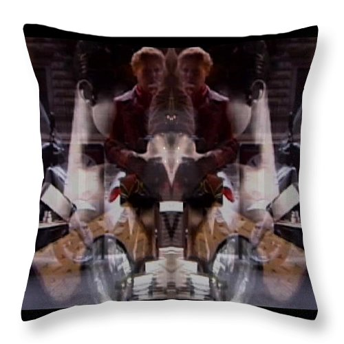 Dream Throw Pillow featuring the photograph Reflections In A Pharmacy Window by Charles Stuart