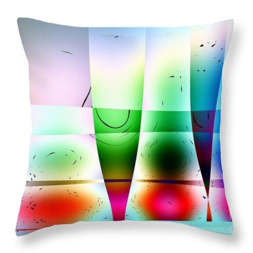 Glass Throw Pillow featuring the digital art Reflections In Glass by Robert Burns